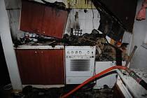 Hasiči zasahovali u požáru rodinného domu v Holetíně.
