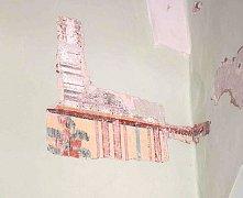 Odkrytá malba na zámku Slatiňany.