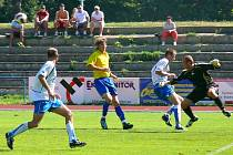 Fotbalové utkání divize C AFK Chrudim - Převýšov.