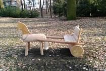 Koník v Chrudimském parku