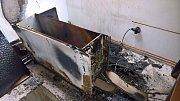 Požár chalupy v Bousově.