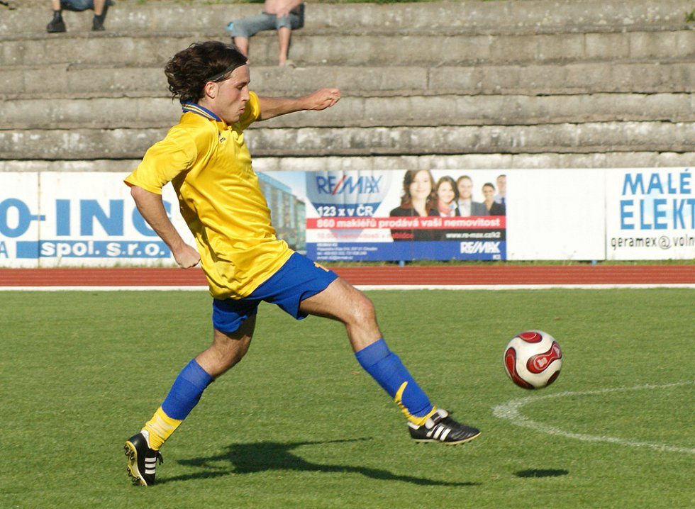 Ze zápasu AFK Chrudim B – Přelouč, který skončil remízou 1:1