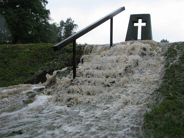 Záplavy na Chrudimsku, 25.6.2013 - Ležáky