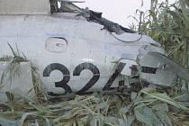 Letadlo se zřítilo do pole, pilot byl na místě mrtvý