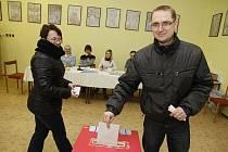 V Hlinsku byl volit prezidenta i krajský radní Pavel Šotola.