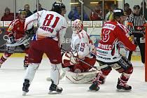 Chrudim porazila v dalším kole I. hokejové ligy Olomouc těsně 2:1.