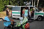 Beseda s policistou v mateřském centru Hlinečánek v Hlinsku.