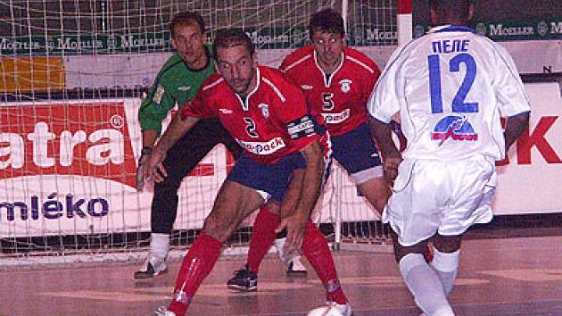 Ze zápasu Era-Pack Dinamo.