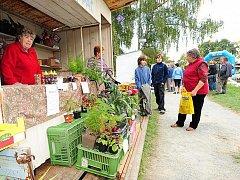 Při Babím létu v Železných horách nemohou chybět ani stánky místních prodejců a pěstitelů.