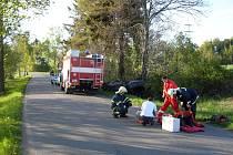 V neděli 8. května 2011 zasahovali hasiči u dopravní nehody mezi Srním a Hlinskem.