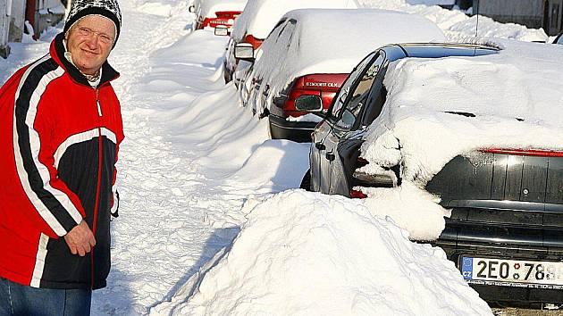 Hlinsko zapadalo sněhem.