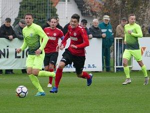 Fotbalová FORTUNA:NÁRODNÍ LIGA: MFK Chrudim - 1. SK Prostějov.