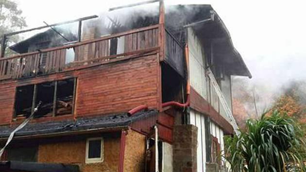 Požár konopáčské chaty vévodí statistice hasičů