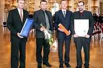 Při předání cen ve Španělském sále Pražského hradu.