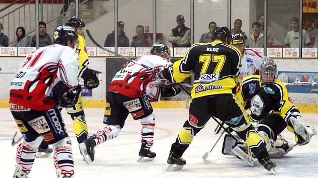 I. hokejová liga: Utkání Chrudim - Kadaň 4:1. Ilustrační foto.