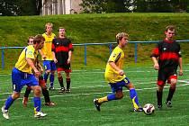 Z fotbalového utkání I. B třídy AFK Chrudim B - Proseč 4:3.