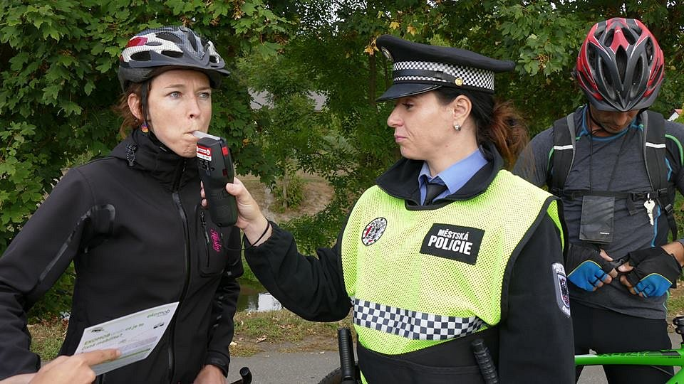 Měření alkoholu v dechu cyklistů