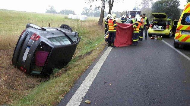 Dopravní nehoda uTrhové Kamenice