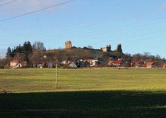 Pohled na hrad Lichnice.