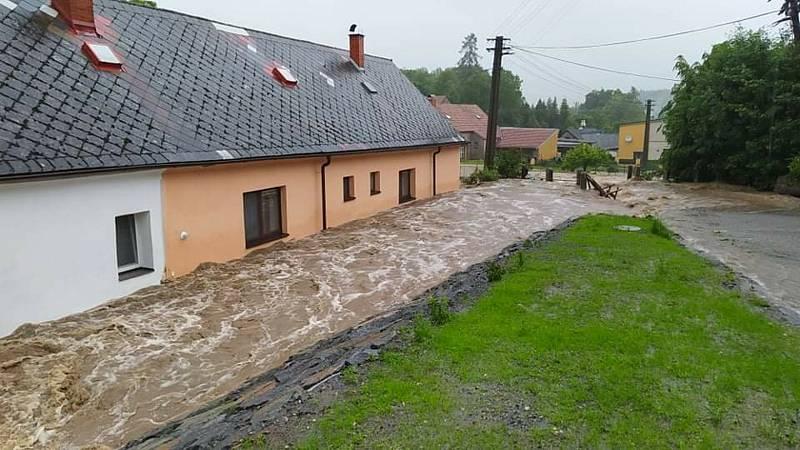 Záplavy na Chrudimsku.