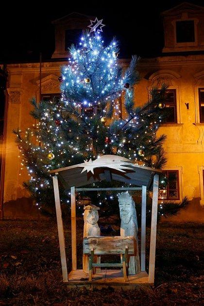 Vánoční strom vMedlešicích