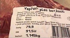 Váží maso skutečně tolik, kolik je vytištěno na etiketě balíčku? Chrudimačka Marcela se přesvědčila o tom, že není dáno, co je psáno.