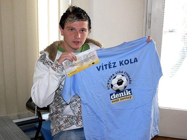 Vítěz dalšího kola Fortuna ligy Tomáš Najman.