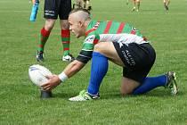 Z utkání 2. kola Divize 1. ragby league: Rabbitohs Chrudim vs. Vrchlabí  56:0 (26:0).
