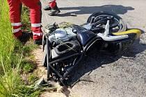 Tragická nehoda motorkáře na Chrudimsku
