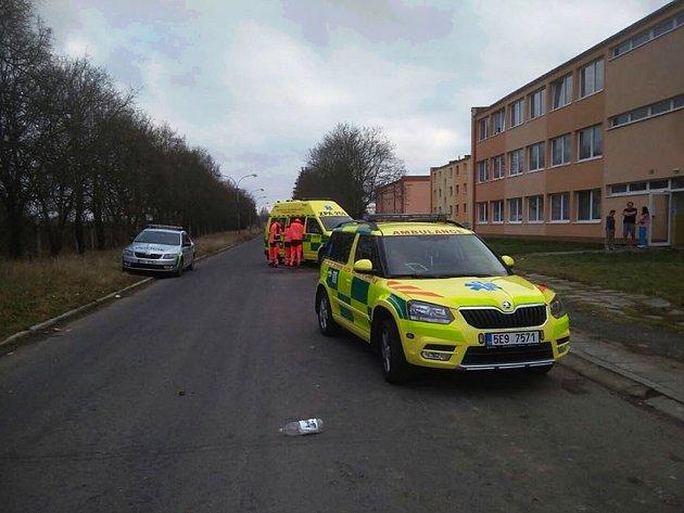 U desetiměsíčního opařeného dítěte zasahovali záchranáři v Čankovicích.