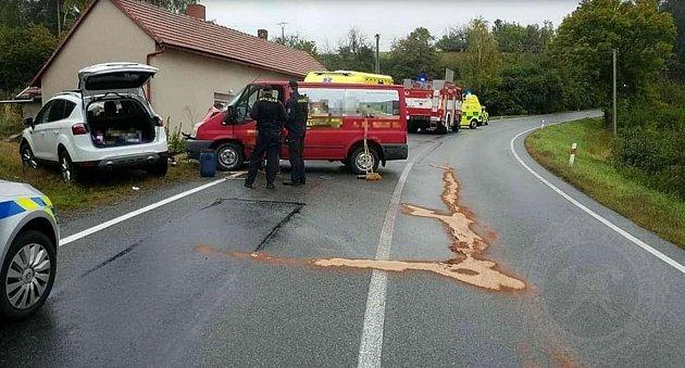 Dopravní nehoda uSkutče.