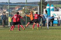Fotbalisté České Třebové podlehli mužstvu ze Slatiňan 1:0.