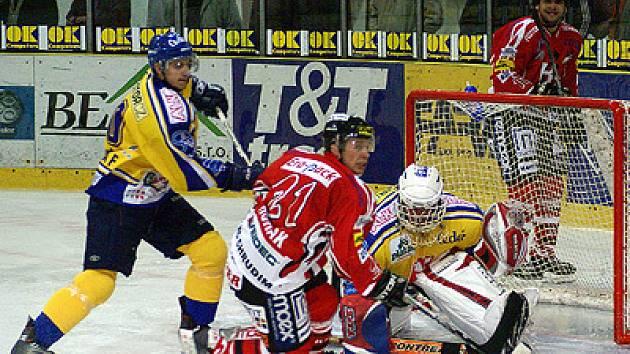V 5. kole druhé ligy zvítězili hokejisté HC Chrudim v pohledném a bojovném zápase nad doposud vedoucím celkem soutěže IHC Písek 3:1.