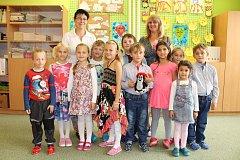 Žáci 1. třídy ze základní školy Trhová Kamenice.