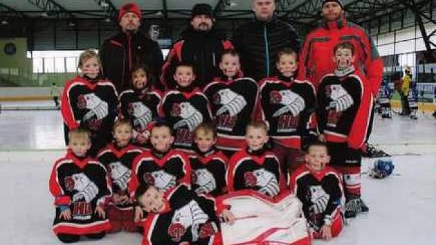 Mladí chrudimští hokejisté.