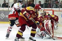 Chrudimští hokejisté si ve 13. kole I. hokejové ligy poradili s věhlasnou Duklou Jihlava, kterou porazili 6:2.