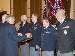 Slavnostní shromáždění výsadkových veteránů k 70. výročí vzniku výsadkových jednotek.