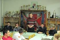 Dobrovolné hasiče navštívil i chrudimský starosta Petr Řezníček.