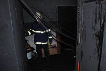 Hasiči likvidovali požár v disco klubu Nyx v Chrudimi.