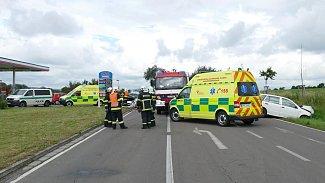 Srážka dvou osobních automobilů u Zaječic