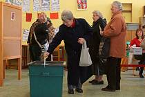 Druhé kolo prezidentských voleb v Chrudimi.