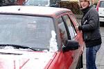 V Třemošnici napadal první letošní sníh.