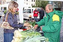 Biojarmark přilákal na Resslovo náměstí mnoho návštěvníků.