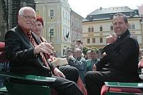 Václav Klaus (vlevo) a Ladislav Libý.
