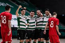 Hráči Sportingu Lisabon vyřadili Chrudim z Ligy mistrů pěti brankami.