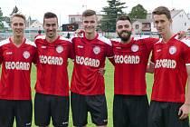 Pět střelců sedm gólů Zleva: Vavrouš, Dostálek, Stránský, Kučera a Krčál.