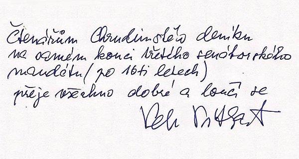 Zdravice Petra Pitharta.