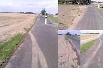 Motorová vozidla na cyklostezce? Stopy na povrchu nově vybudované cyklostezky hovoří jasně.