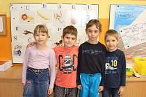 Žáci 1. třídy ze ZŠ a MŠ Orel, kterou vede paní učitelka Božena Dibelková.