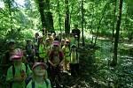 Děti předškolního věku při celostátní ochranářské akci poznávaly plno zajímavých tajů při zdařilé procházce.